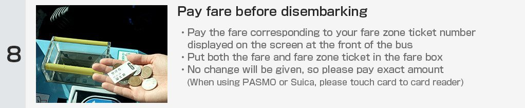Pay fare before disembarking